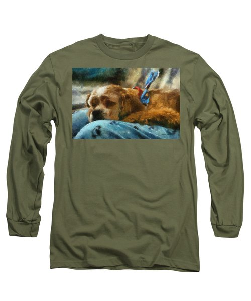 Cocker Spaniel Photo Art 07 Long Sleeve T-Shirt by Thomas Woolworth