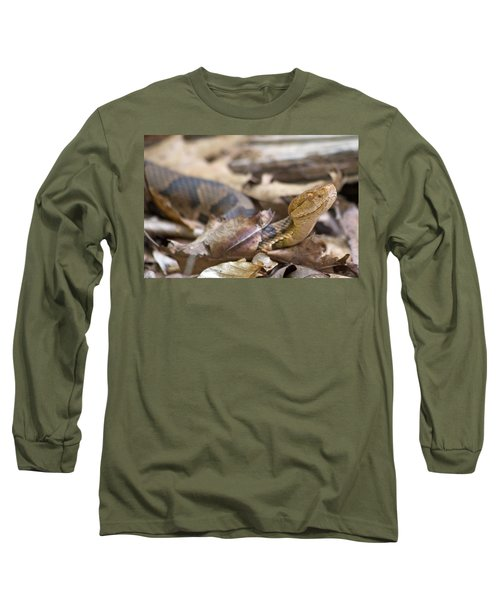 Copperhead In The Wild Long Sleeve T-Shirt by Betsy Knapp