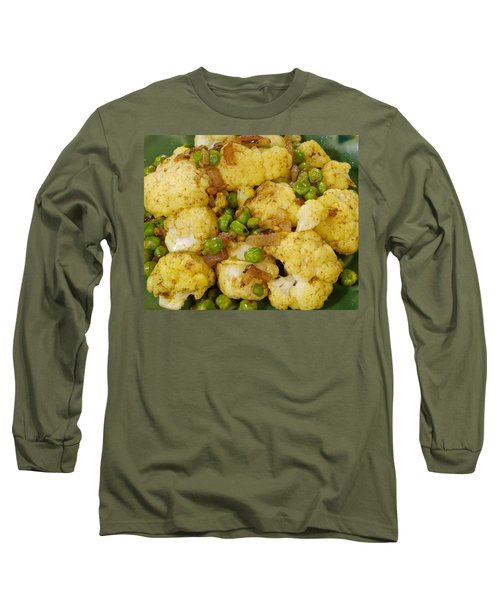 Curried Cauliflower Long Sleeve T-Shirt by Science Source