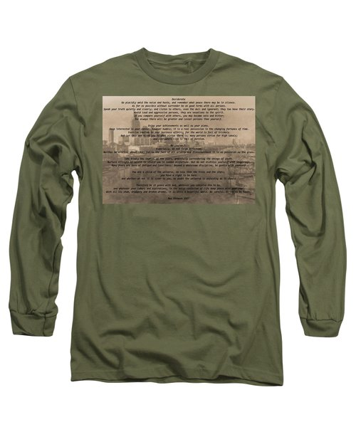 Desiderata Nashville Long Sleeve T-Shirt by Dan Sproul