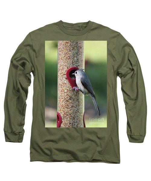 Eastern Tufted Titmouse  Long Sleeve T-Shirt by Carol Groenen