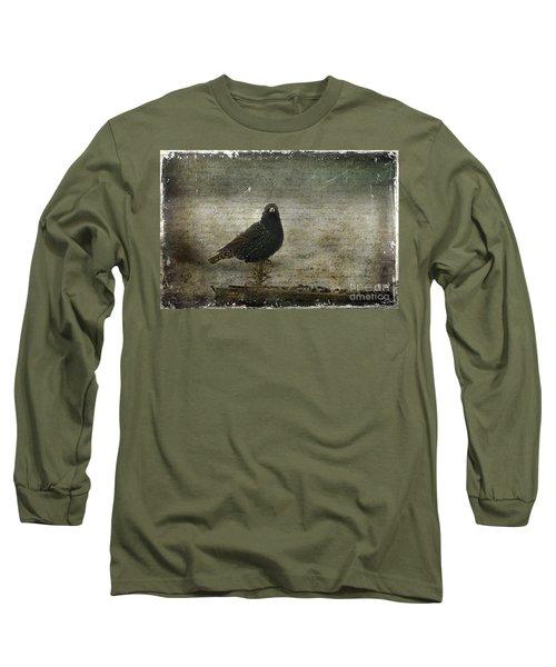 European Starling Long Sleeve T-Shirt by Cindi Ressler
