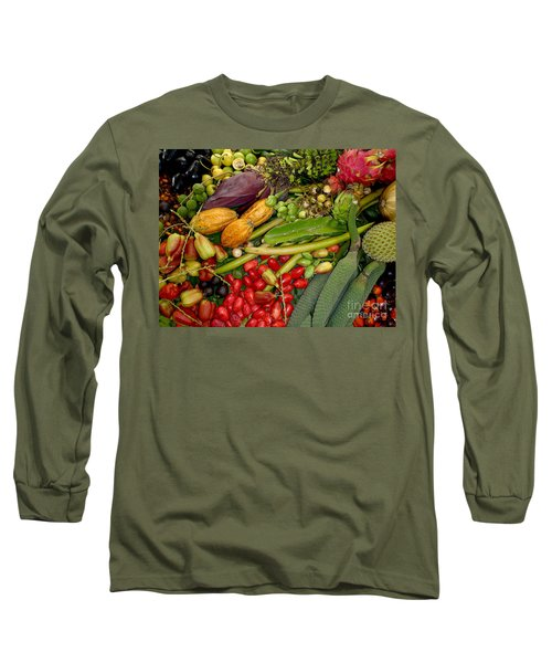 Exotic Fruits Long Sleeve T-Shirt by Carey Chen
