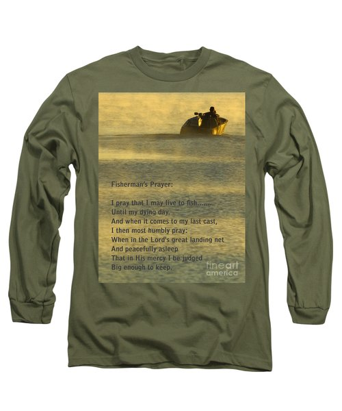 Fisherman's Prayer Long Sleeve T-Shirt by Robert Frederick