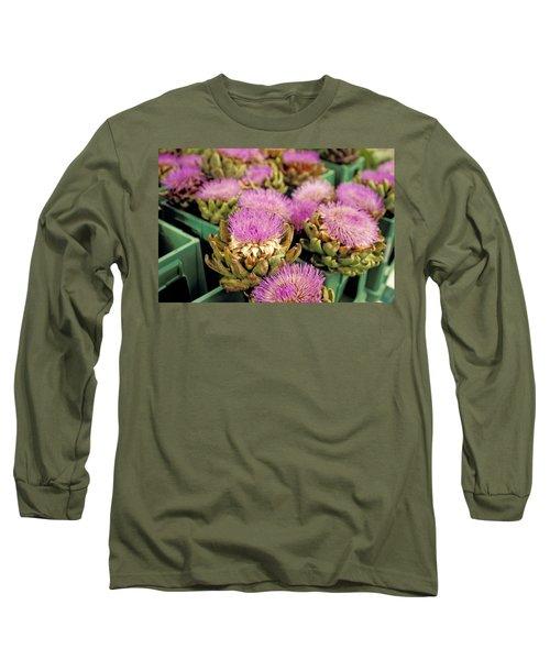 Germany Aachen Munsterplatz Artichoke Flowers Long Sleeve T-Shirt by Anonymous