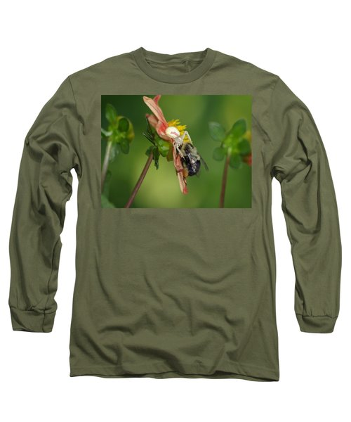 Goldenrod Spider Long Sleeve T-Shirt by James Peterson
