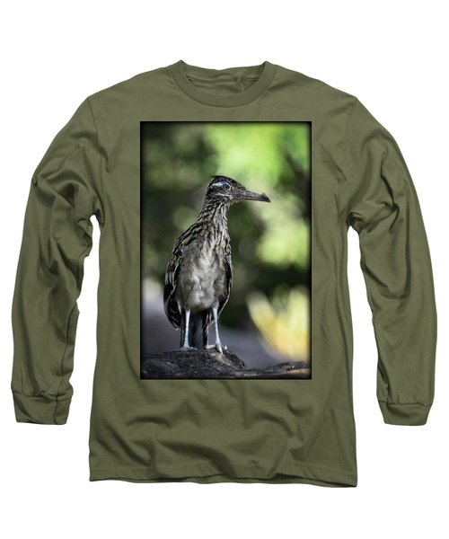 Greater Roadrunner  Long Sleeve T-Shirt by Saija  Lehtonen