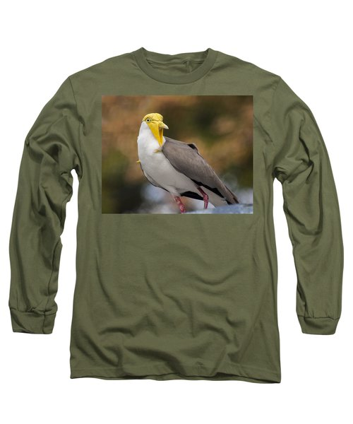 Masked Lapwing Long Sleeve T-Shirt by Carolyn Marshall