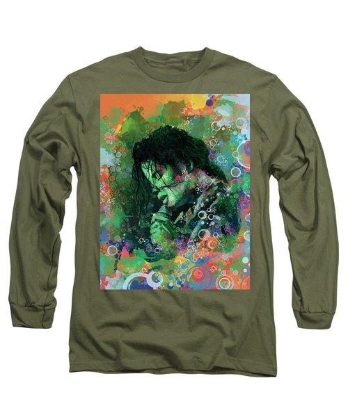 Michael Jackson 15 Long Sleeve T-Shirt by Bekim Art