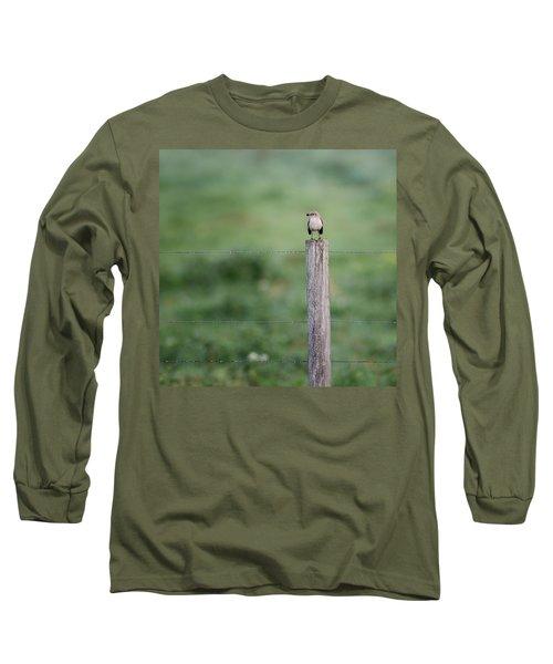 Minimalism Mockingbird Long Sleeve T-Shirt by Bill Wakeley