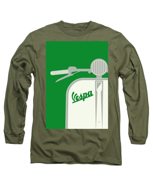My Vespa - From Italy With Love - Green Long Sleeve T-Shirt by Chungkong Art