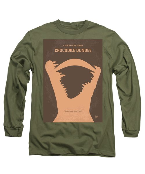 No210 My Crocodile Dundee Minimal Movie Poster Long Sleeve T-Shirt by Chungkong Art