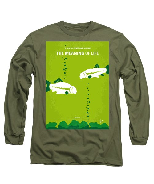 No226 My The Meaning Of Life Minimal Movie Poster Long Sleeve T-Shirt by Chungkong Art
