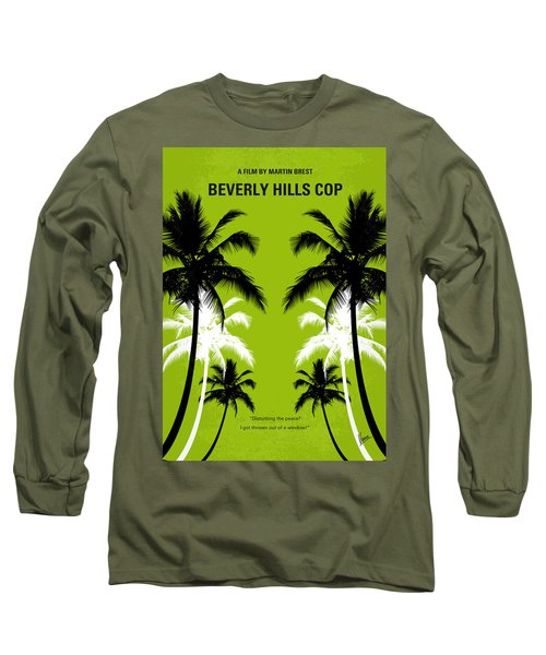 No294 My Beverly Hills Cop Minimal Movie Poster Long Sleeve T-Shirt by Chungkong Art
