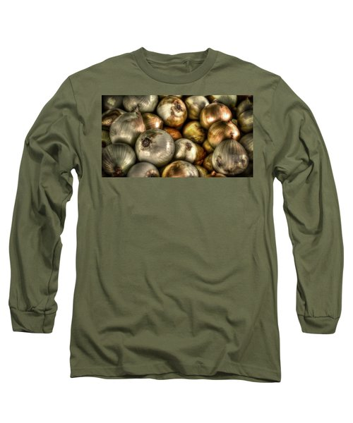 Onions Long Sleeve T-Shirt by David Morefield