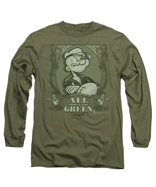 Popeye - All About The Green Long Sleeve T-Shirt by Brand A