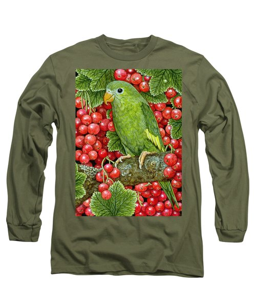 Redcurrant Parakeet Long Sleeve T-Shirt by Ditz