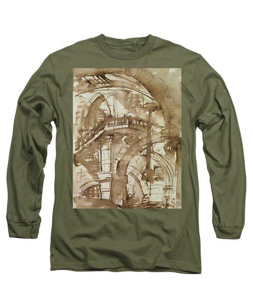 Roman Prison Long Sleeve T-Shirt by Giovanni Battista Piranesi