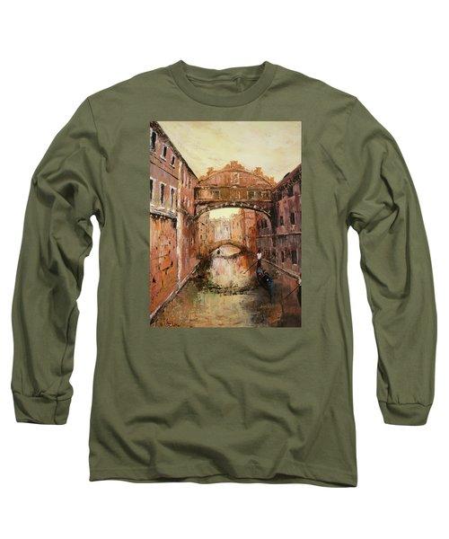 The Bridge Of Sighs Venice Italy Long Sleeve T-Shirt by Jean Walker