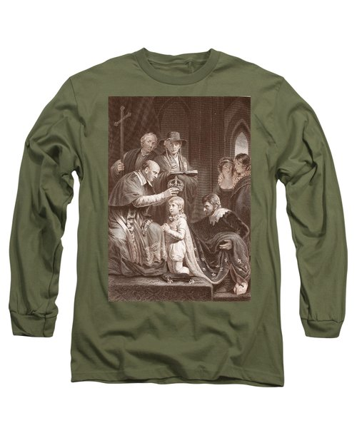 The Coronation Of Henry Vi, Engraved Long Sleeve T-Shirt by John Opie