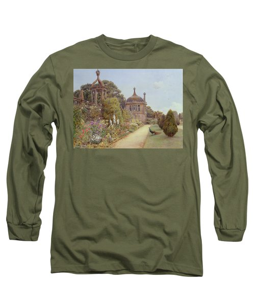 The Gardens At Montacute In Somerset Long Sleeve T-Shirt by Ernest Arthur Rowe