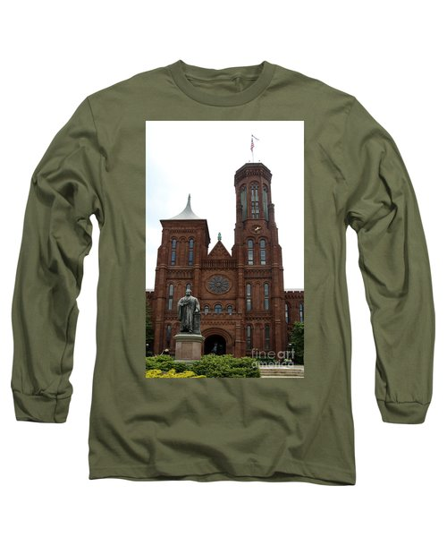 The Smithsonian - Washington Dc Long Sleeve T-Shirt by Christiane Schulze Art And Photography