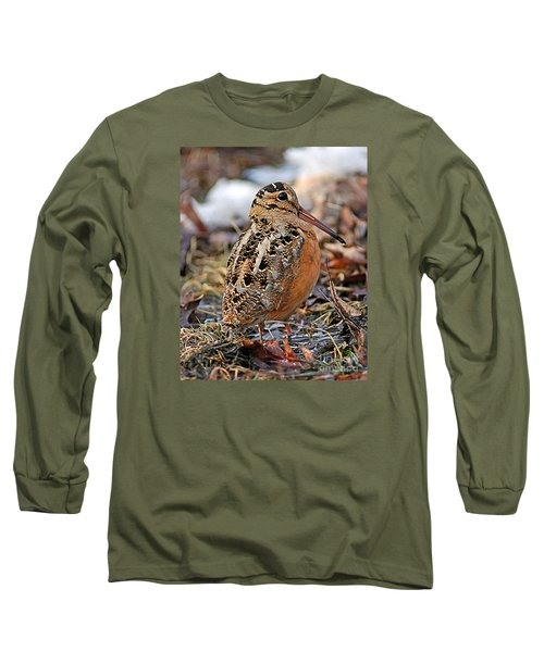 Timberdoodle The American Woodcock Long Sleeve T-Shirt by Timothy Flanigan