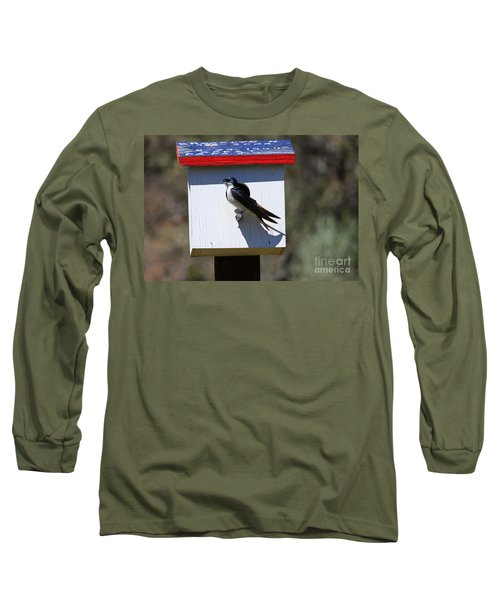 Tree Swallow Home Long Sleeve T-Shirt by Mike  Dawson