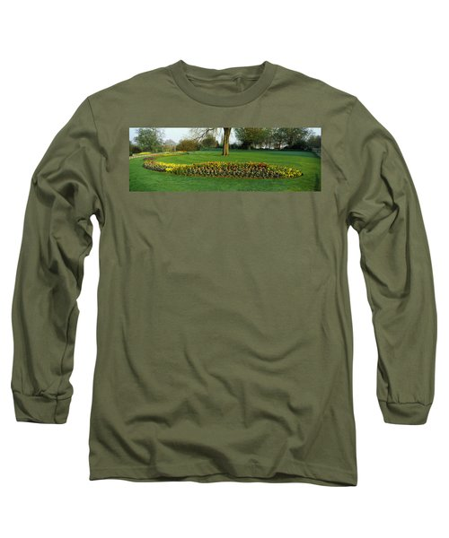 Tulips In Hyde Park, City Long Sleeve T-Shirt by Panoramic Images