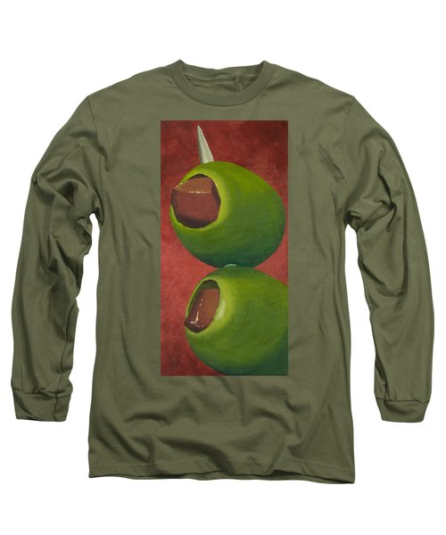 Two Olives In Search Of A Bloody Mary Long Sleeve T-Shirt by Garry McMichael