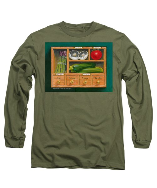 Vegetable Shelf Long Sleeve T-Shirt by Brian James