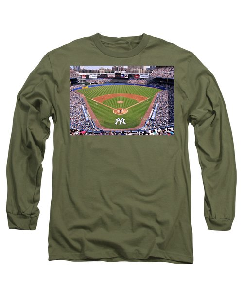 Yankee Stadium Long Sleeve T-Shirt by Allen Beatty