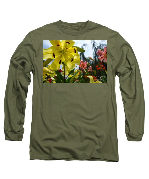 Yellow Whopper Lily 1 Long Sleeve T-Shirt by Jacqueline Athmann