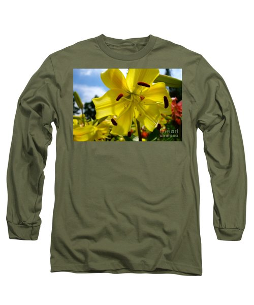 Yellow Whopper Lily 2 Long Sleeve T-Shirt by Jacqueline Athmann