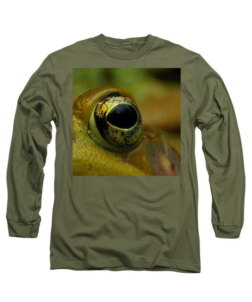 Eye Of Frog Long Sleeve T-Shirt by Paul Ward