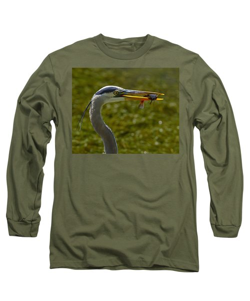 Fishing For A Living Long Sleeve T-Shirt by Tony Beck