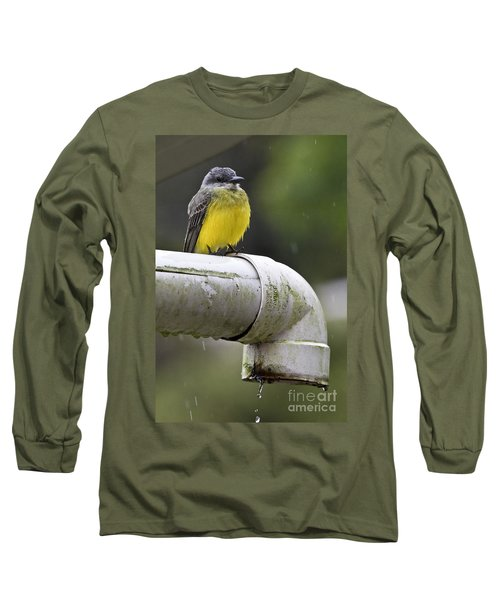 Grey-capped Flycatcher Long Sleeve T-Shirt by Heiko Koehrer-Wagner