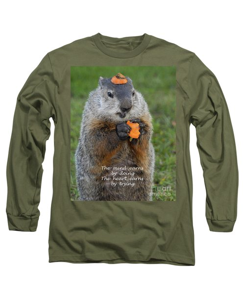 The Heart Earns By Trying Long Sleeve T-Shirt by Paul W Faust -  Impressions of Light