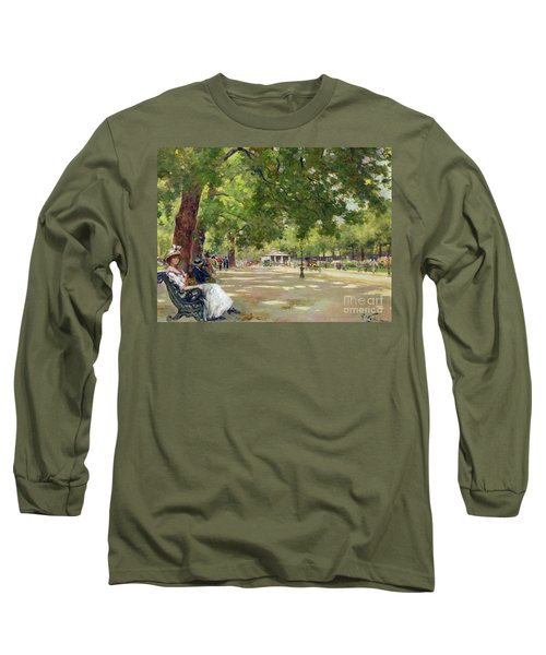 Hyde Park - London Long Sleeve T-Shirt by Count Girolamo Pieri Nerli