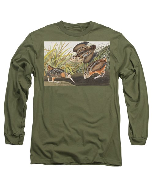 American Woodcock Long Sleeve T-Shirt by John James Audubon