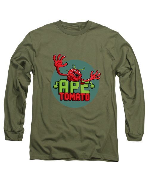 Ape Tomato Grey Green Long Sleeve T-Shirt by Nicolas Palmer