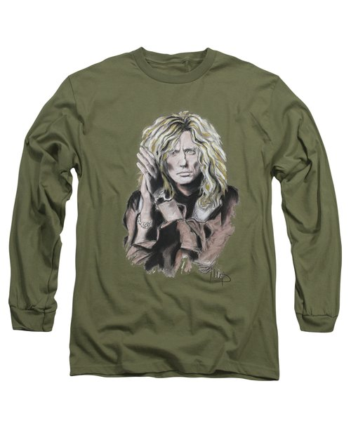 David Coverdale Long Sleeve T-Shirt by Melanie D