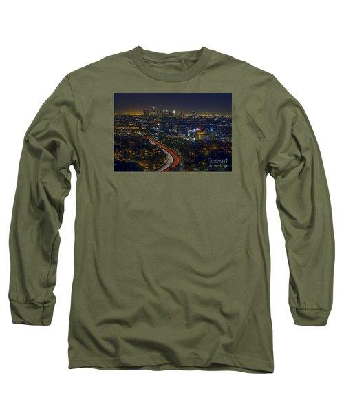 Los Angeles Sunrise Long Sleeve T-Shirt by Art K