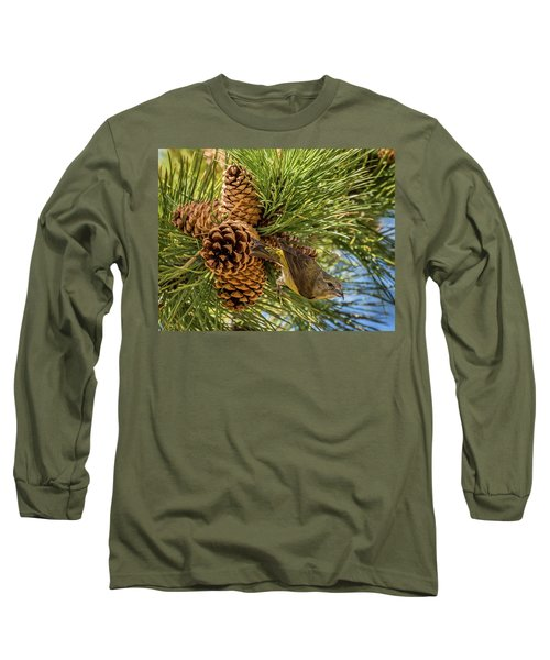 Red Crossbill Long Sleeve T-Shirt by Michael Cunningham