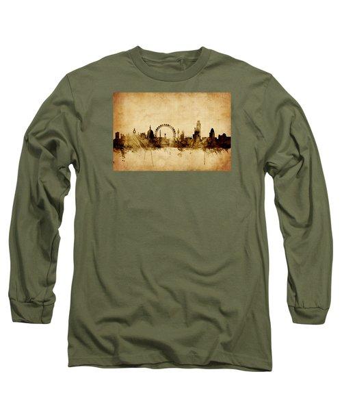 London England Skyline Long Sleeve T-Shirt by Michael Tompsett