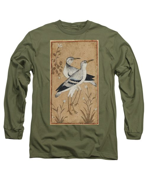 A Pair Of Lapwings Long Sleeve T-Shirt by MotionAge Designs