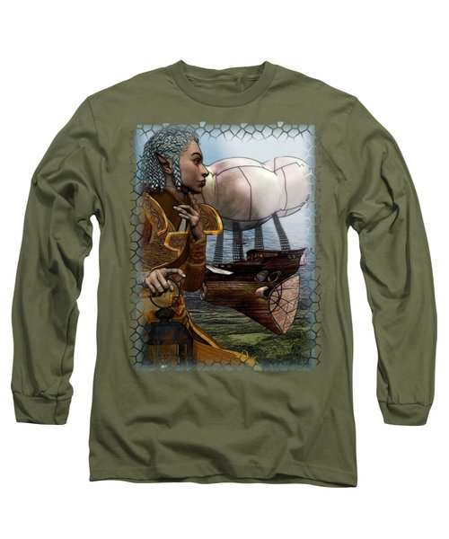Airship Long Sleeve T-Shirt by Sharon and Renee Lozen
