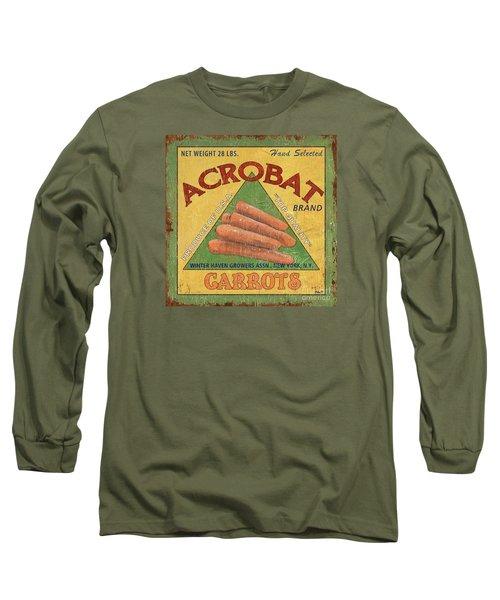Americana Vegetables 2 Long Sleeve T-Shirt by Debbie DeWitt