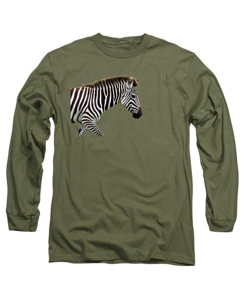 Zebra Long Sleeve T-Shirt by Aidan Moran