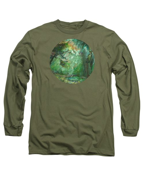 Rainy Woods Long Sleeve T-Shirt by Mary Wolf